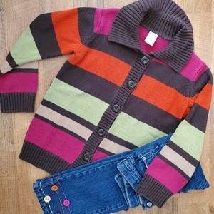 Gymboree girls cardigan and jeans